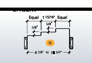 DE-Series Frame Profile (N)