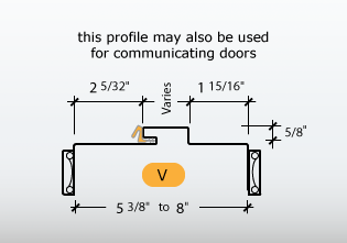 Kerfed - Frame Profile (V) - this profile may also be used for Communicating Doors