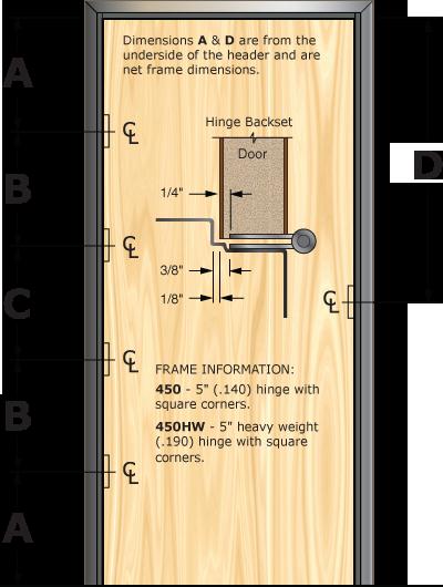 Prefit Door Specification for 450
