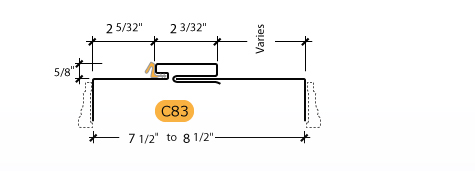Adjustable Kerfed - Frame Profile (C83)