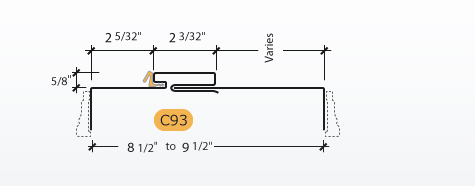 Adjustable Kerfed - Frame Profile (C93)