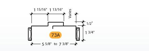 Adjustable - Frame Profile (73A)