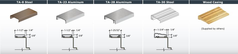 Casing Profiles for Timely Steel Door Frames