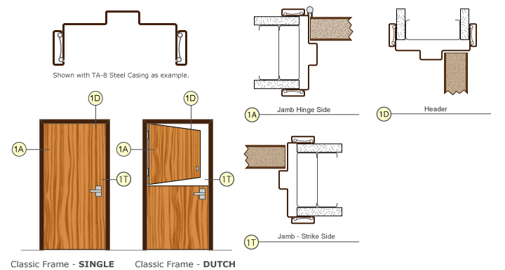 Timely Door Frames Classic Frame Single Drawing