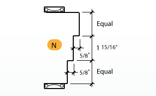 DE-Series Frame Profile (N) Upright