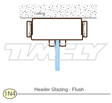 Detail 1N4 Header Glazing Flush