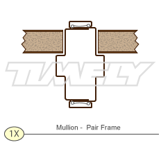 Detail 1X Mullion Pair Frame