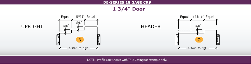 Door Frame Profiles for Double Egress
