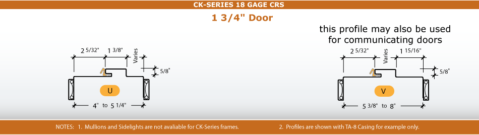 Frame Profile for Fixed Kerfed Frame CK-Series