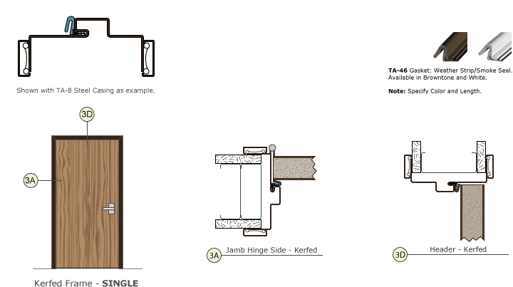 Timely Frames Kerfed Frame Single Drawing