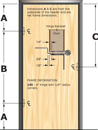 Prefit Door Illustration 240