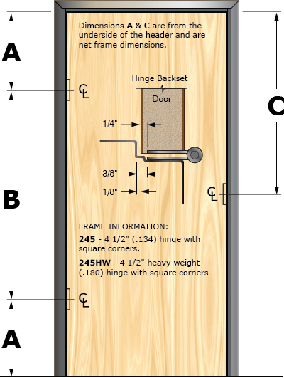 Prefit Door Illustration 245