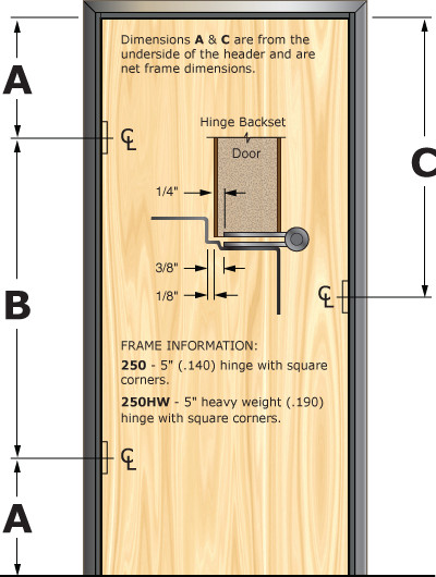 Prefit Door Illustration 250
