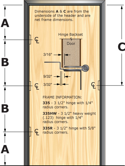 Prefit Door Illustration 335