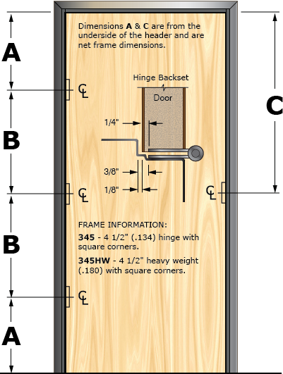 Prefit Door Illustration 345