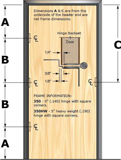 Prefit Door Illustration 350