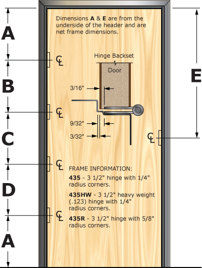 Prefit Door Illustration 435D