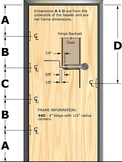 Prefit Door Illustration 440