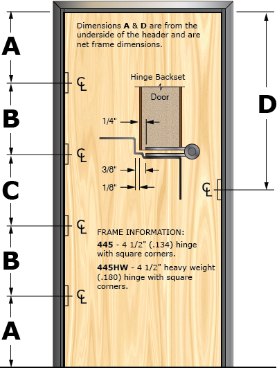 Prefit Door Illustration 445