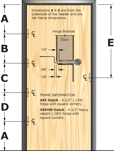 Prefit Door Illustration 445D