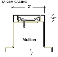 TA-28 Mullion CAD Drawing