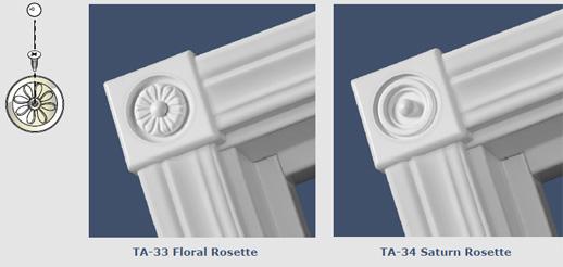 Beau TA 30 Colonial Steel Casing Rosettes