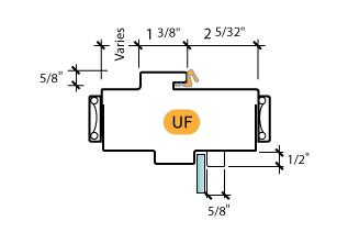 Kerfed - Frame Profile (UF)