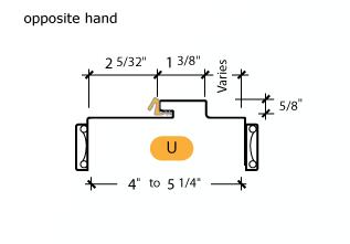 Kerfed - Frame Profile (U) - Opposite Hand