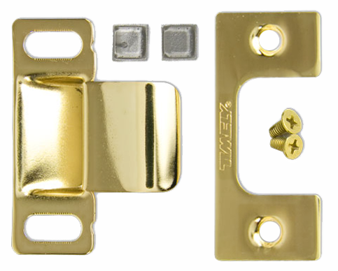 Timely Frame Strike Package TA-1 Inc.C plate Dust Cap Screws /& Door Silencers