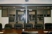 Timely Conference Room – Black Nickel Frame with Sidelights and Transom