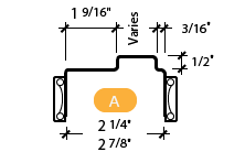 CAD Drawing Image for Classic Frame Profile