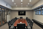Timely Conference Room – Black Nickel Sidelights and Transom