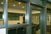 Timely Conference Room – Black Nickel Sidelights with Transom